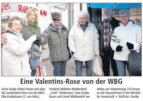 Eine Valentins-Rose von der WBG