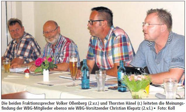 Mitgliederversammlung der WBG 2015